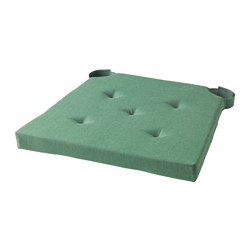 JUSTINA - Chair pad, green