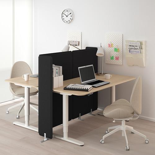 BEKANT meja duduk/berdiri dengan layar