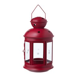 VINTERFEST - Lantern for tealight, in/outdoor red