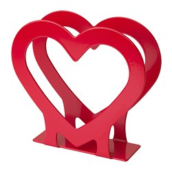 VINTERFEST - Napkin holder, heart/red