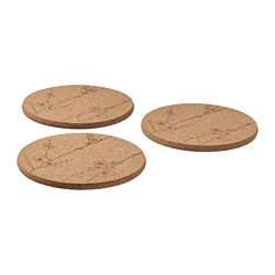 VÅRFINT - Pot stand, cork patterned