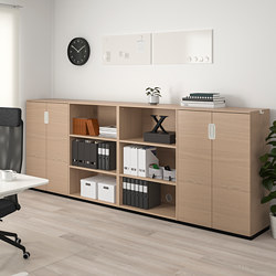 GALANT - Storage combination, white stained oak veneer