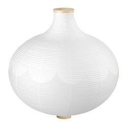 RISBYN - Pendant lamp shade, onion shape/white