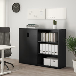 GALANT - Storage combination, black stained ash veneer