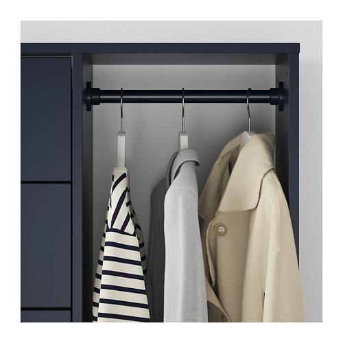 NORDMELA lemari laci dengan rel pakaian