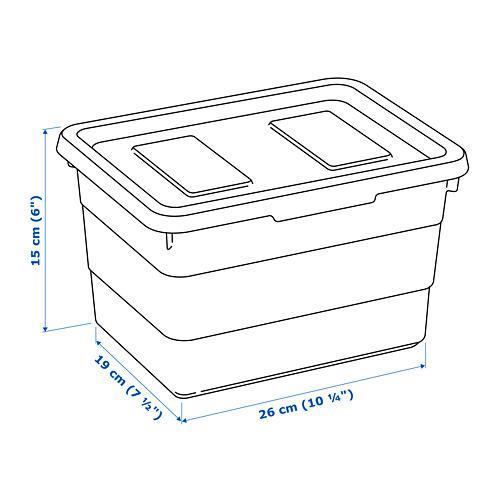 SOCKERBIT kotak dengan penutup