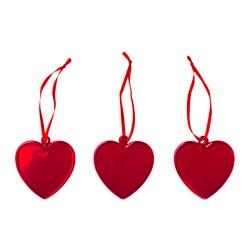VINTERFEST - Dekorasi gantung, kaca/hati merah
