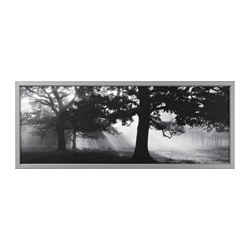BJÖRKSTA - Picture with frame, Meadow Dream II/aluminium-colour