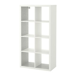 KALLAX - Unit rak, putih/pola kotak