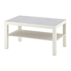 LACK - Meja tamu, putih/pola kotak