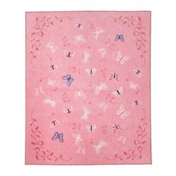 SÅNGLÄRKA - Karpet, bulu tipis, kupu-kupu/merah muda
