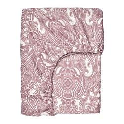 JÄTTEVALLMO - Seprai berkaret, putih/merah muda tua