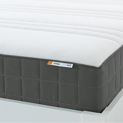 HÖVÅG - Pocket sprung mattress, extra firm/dark grey, 160x200 cm