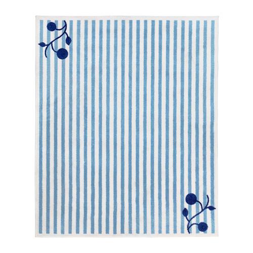 GULSPARV - rug, striped blue/white, 133x160 cm | IKEA Indonesia - PE710091_S4