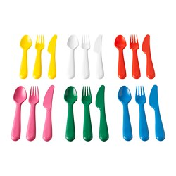KALAS - 18-piece cutlery set, multicolour