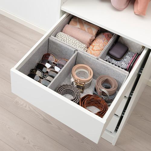 KOMPLEMENT - kotak, set isi 4, abu-abu muda, 40x54 cm | IKEA Indonesia - PE693370_S4