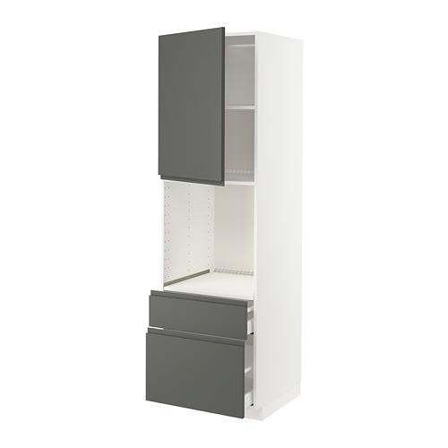 METOD/MAXIMERA kabinet tinggi oven+pintu/2 laci