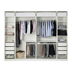 PAX - Lemari pakaian, putih