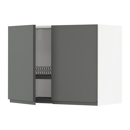 METOD wall cabinet w dish drainer/2 doors