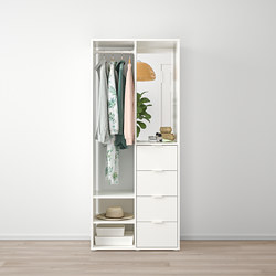 SUNDLANDET - Open wardrobe, white