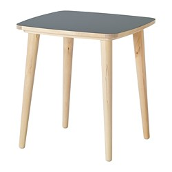 OMTÄNKSAM - Side table, anthracite/birch