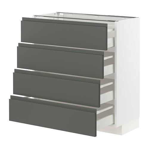 METOD/MAXIMERA kab dasar 4 bag depan/4 laci