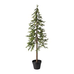 VINTERFEST - Artificial potted plant, in/outdoor Christmas tree/spruce