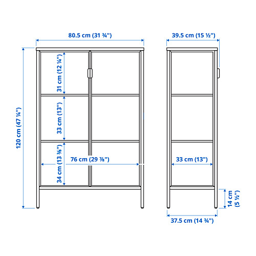 RUDSTA glass-door cabinet