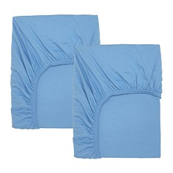 LEN - Fitted sheet for cot, light blue