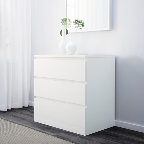 MALM - lemari 3 laci, putih, 80x78 cm   IKEA Indonesia - PE624279_S4