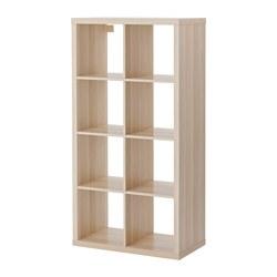 KALLAX - Unit rak, efek kayu oak diwarnai putih