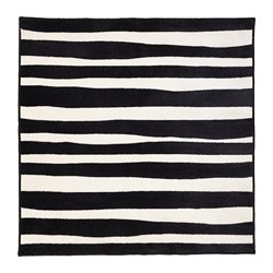 URSKOG - Karpet, bulu tipis, zebra/garis-garis