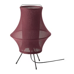 FYXNÄS - Table lamp, dark red