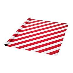 VINTER 2019 - Rol kertas kado, merah/putih garis-garis
