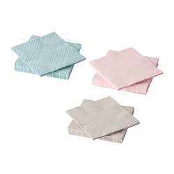 KEJSERLIG - Paper napkin, assorted colours