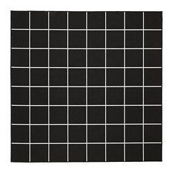 SVALLERUP - Rug flatwoven, in/outdoor, black/white