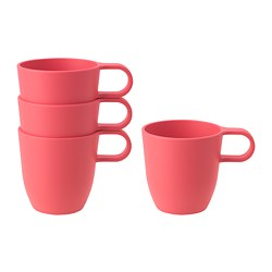 TALRIKA - Mug, light red