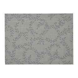 SNOBBIG - Place mat, patterned/grey