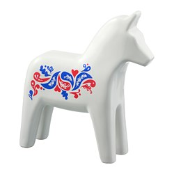VINTERFEST - Hiasan, kuda, keramik/putih