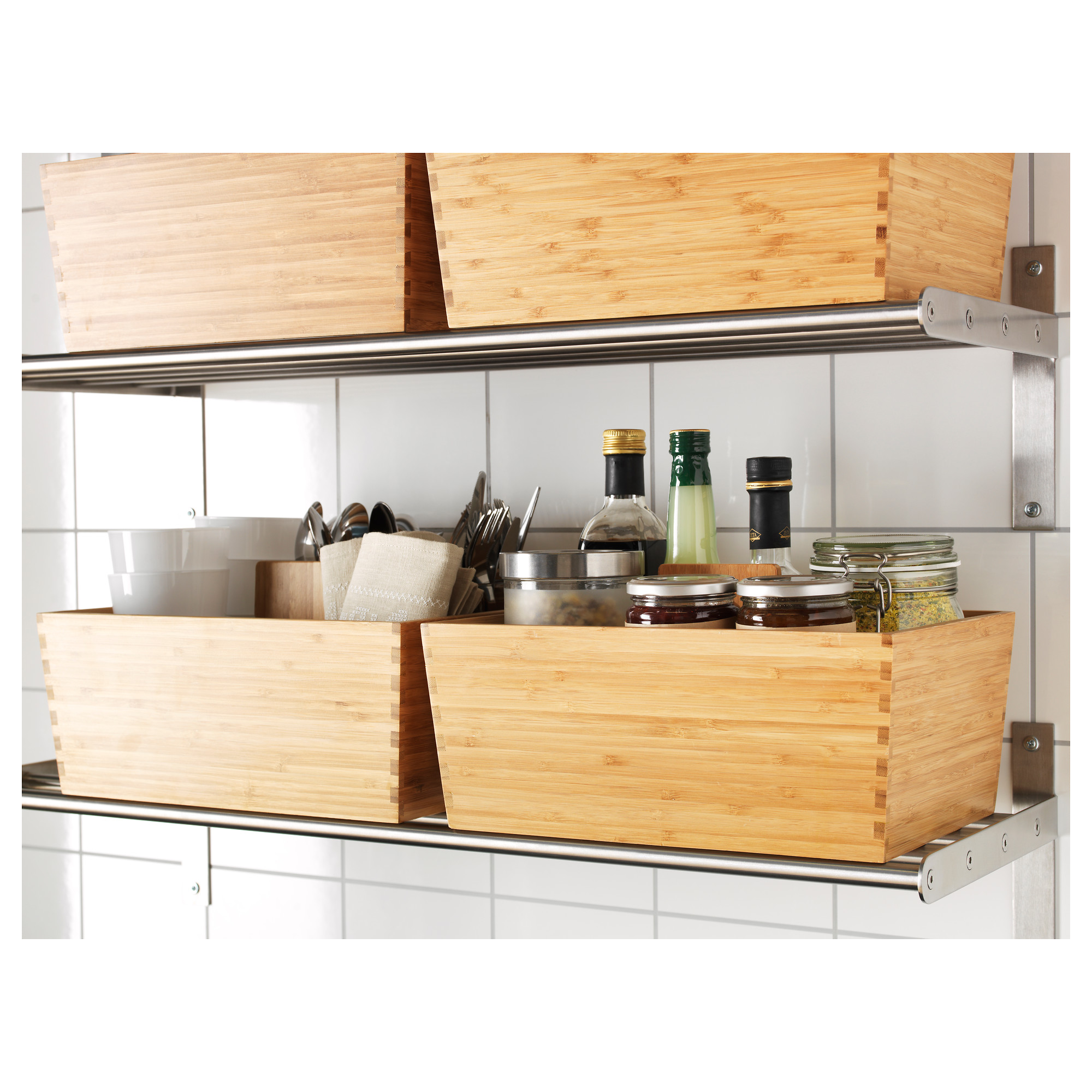 Variera Box With Handle Bamboo Ikea Indonesia