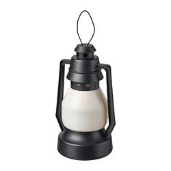 VINTERFEST - Lampu LED dekorasi, dioperasikan dengan baterai dalam/luar ruang/lentera hitam