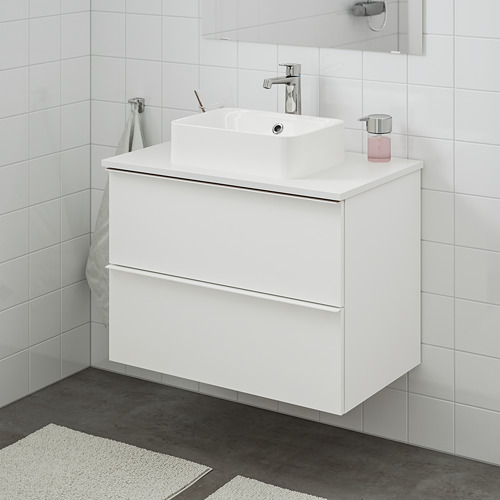 HÖRVIK/GODMORGON/TOLKEN meja wastafel dg meja ukuran 45x32