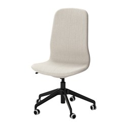 LÅNGFJÄLL - Office chair, Gunnared beige/black