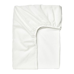 TAGGVALLMO - Fitted sheet, white