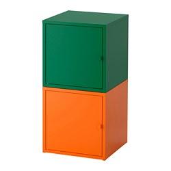 LIXHULT - Kombinasi penyimpanan, hijau tua/oranye