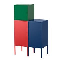 LIXHULT - Kombinasi penyimpanan, merah biru tua/hijau tua