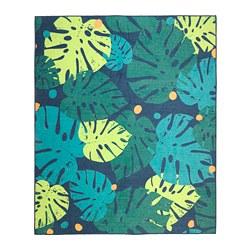 URSKOG - Karpet, anyaman datar, daun/hijau