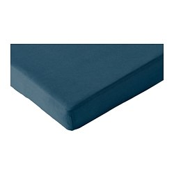 LEN - Fitted sheet for ext bed, set of 2, dark turquoise