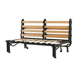 LYCKSELE - Two-seat sofa-bed frame, black