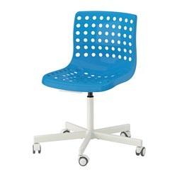 SKÅLBERG/SPORREN - Swivel chair, blue/white